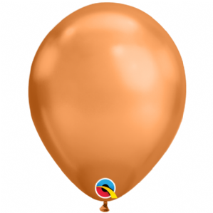 Chrome Balloons - 11 Inch Copper Chrome Balloons (100pcs) | Free Delivery Available